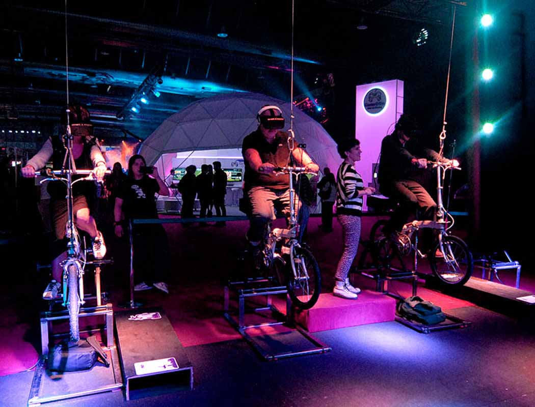 Eventos realidad virtual bicicleta | Xperiencia Virtual