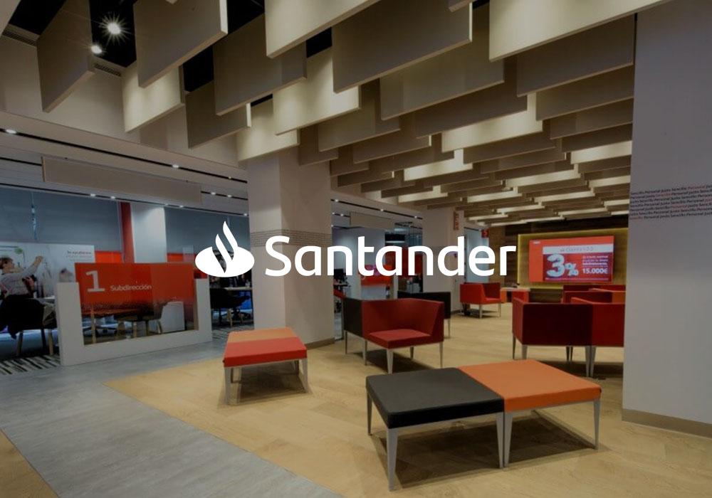 Realidad aumentada para banco Santander listado | Xperiencia Virtual