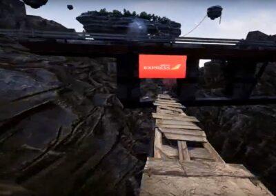 Realidad virtual montaña rusa captura | Xperiencia Virtual