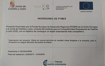 Proyecto de inversión nº 02/16/VA/0036