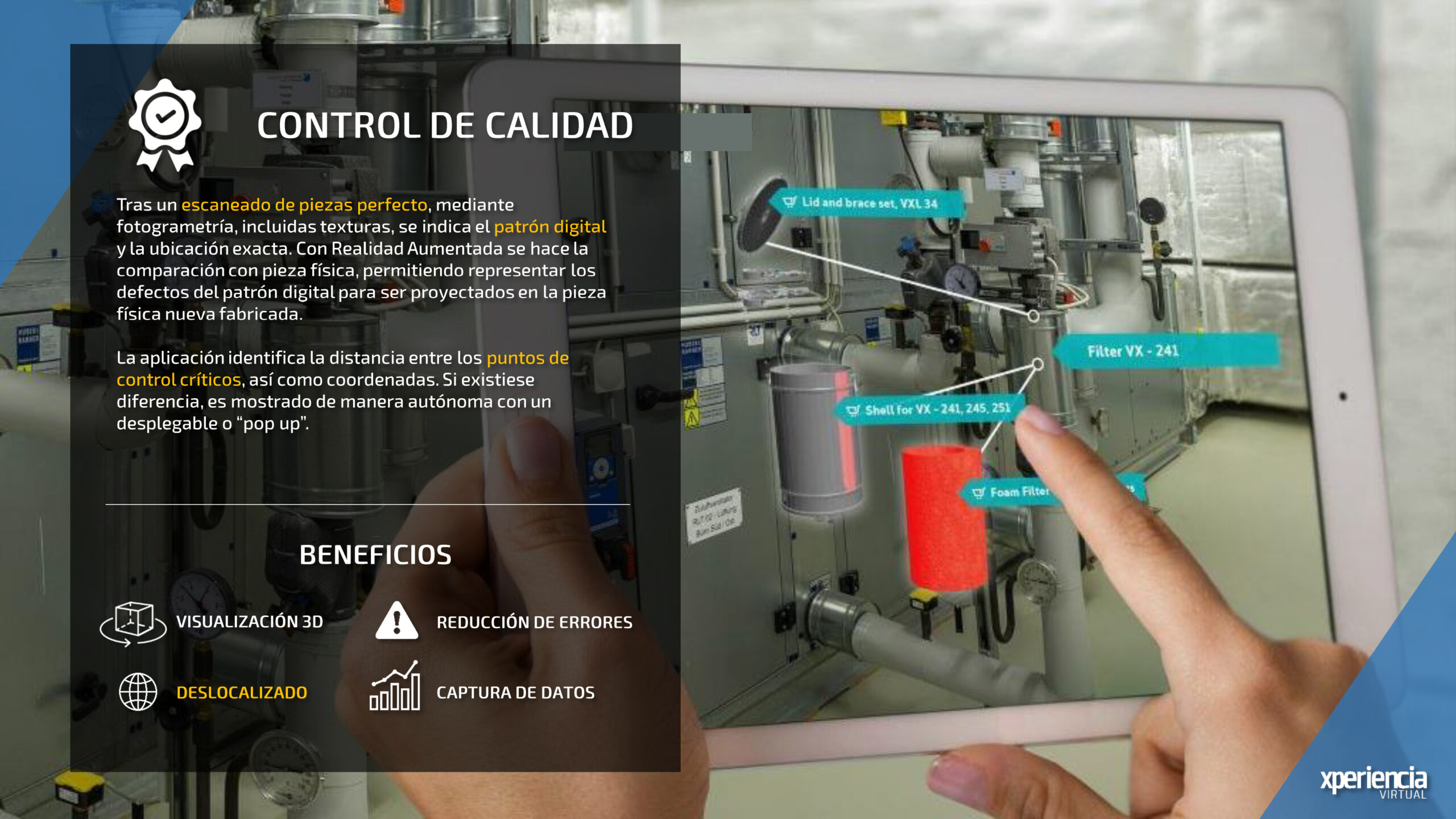 Control de Calidad Realidad Virtual Realidad Aumentada Industria 4.0