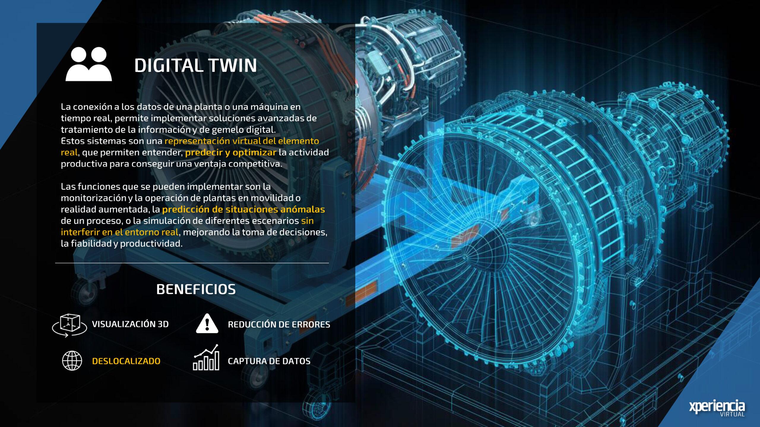 Digital Twin Realidad Virtual Realidad Aumentada Industria 4.0