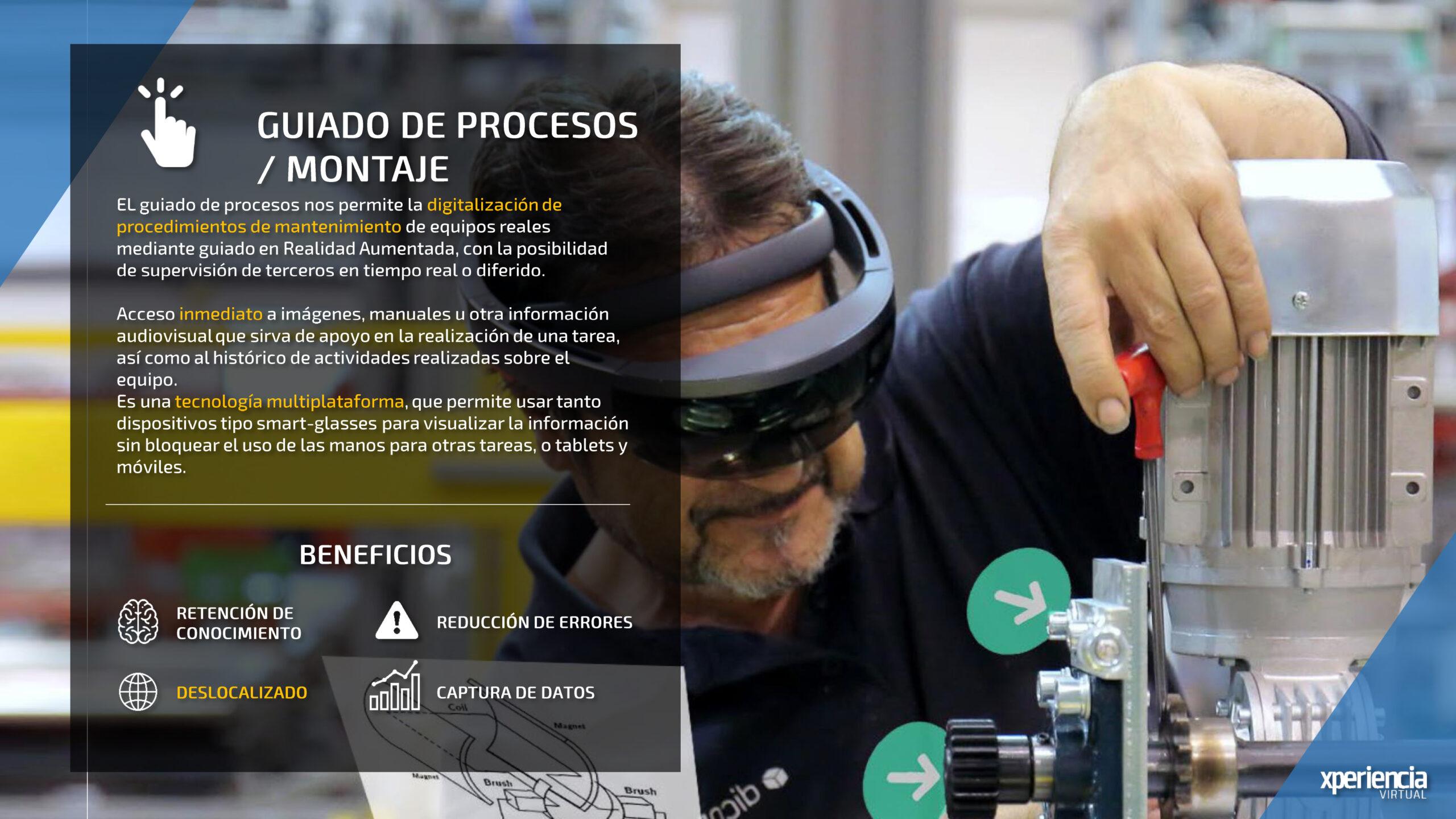 Guiado de procesos Realidad Virtual Realidad Aumentada Industria 4.0